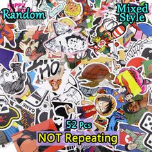 52 PCS Mixed Stickers Waterproof DIY Styling Cool Creative Decor Toy For Laptop Luggage Travel Case Car Motorcycle Accessories