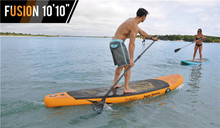 "FreeShipping Fusion 10' 10"""" Stand Up Paddle Board Inflatable Surf board include oar inflation pump bag repair patch(China)"
