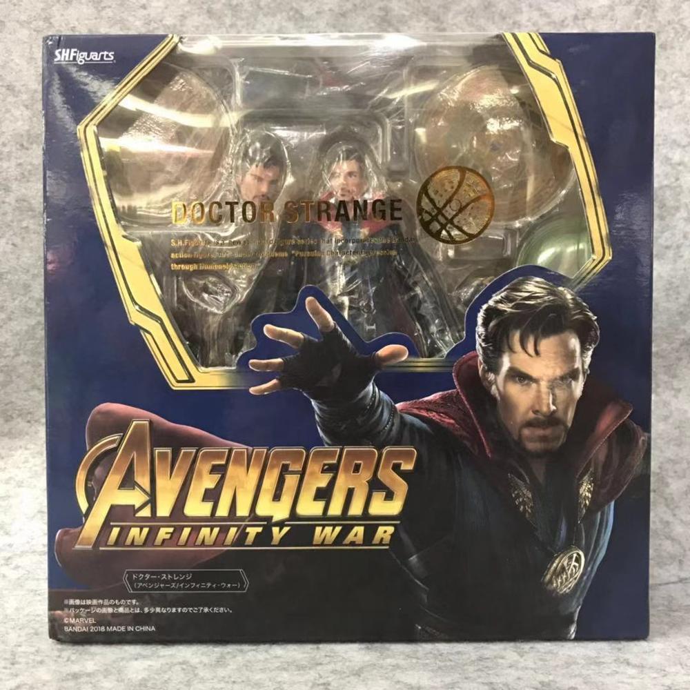 SHFiguarts Avengers Infinity War Black Widow Thanos Iron Man SpiderMan Star Load Doctor Strange Captain America Action Figure (3)