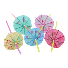 50pcs Fluorescent Umbrella Plastic Straws Wedding Birthday Party Drinking Straws Christmas Party Suppliers Straws