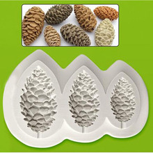 Yueyue Sugarcraft Pine cones Silicone mold fondant mold cake decorating tools chocolate mold(China)