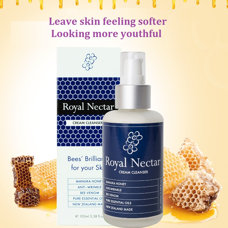 Genuine NewZealand Royal Nectar Manuka Honey bee benom Rosehip Oil Facial Cleanser soothing refreshing anti aging Cleanser<br>
