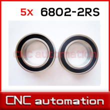 5pcs hub shaft 440 stainless steel hybrid ceramic ball bearings 6802 S6802 2RS 15*24*5mm Si3N4 bike part