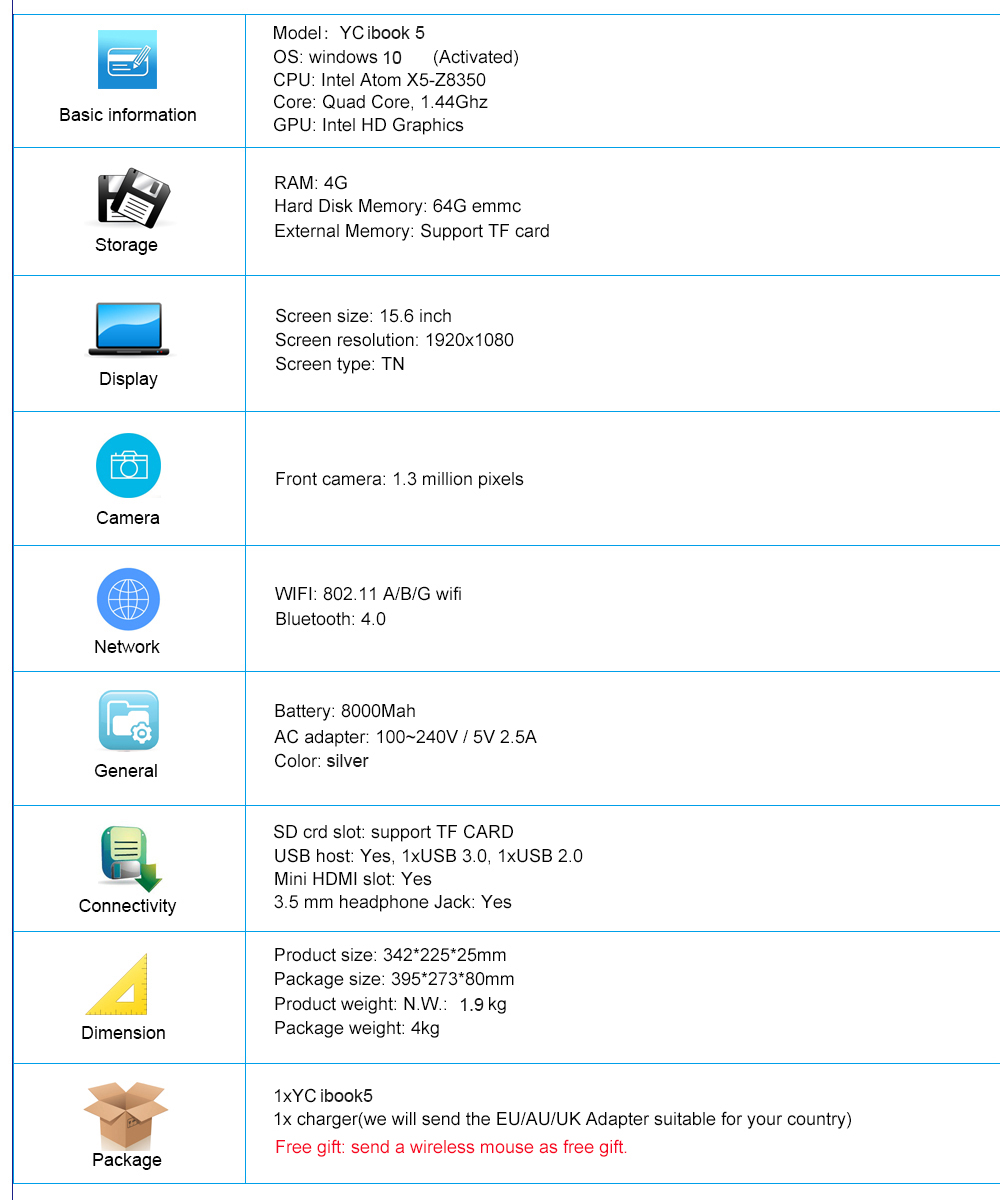 specification ibook5