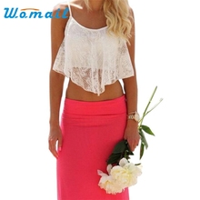 Hot Marketing Sexy Women Lace Floral Crop Top Bralette Bralet Shirt Cami Blouse Tank WJul7 Drop Shipping