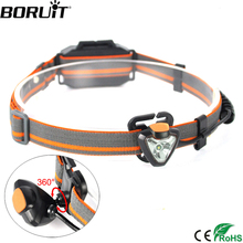 BORUiT G023 XPE LED 600LM Headlight 360 Degree Rotate Headlamp 4-Mode Head Torch Light Lamp Hunting Frontal Lantern AAA Battery(China)