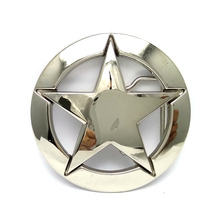 Drop Shipping World War II US military white five-pointed star logo belt buckle metal Retail custom cowboy belt buckles(China)