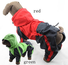2016 New Cozy Pet Raincoat 4 Legs Hoodie Waterproof Rain Lovely Jackets Large Dog Clothes C63