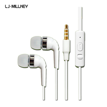 LJ-MILLKEY In-Ear Noise canceling Cloth Cable Wired Sport Headset Cheapest Earphones Mobile Phone MP3 MP4 Player L123