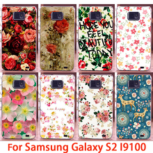 Soft Phone Cases For Samsung Galaxy SII I9100 S2 GT-I9100 Cases Rose Flowers Hard Back Cover Skin Shell Housing Sheath Bag Hood