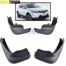 Front Rear Set Molded Car Mud Flaps For Nissan Qashqai J11 2014 2015 2016 2017 Mudflaps Splash Guards Mud Flap Mudguards Fender