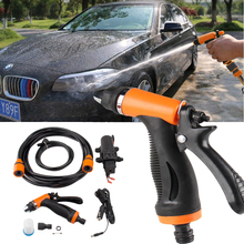 12V Portable 100W 160PSI  High Pressure Self-priming Electric Car Wash Washer Washing Machine Cigarette Lighter Water Pump red