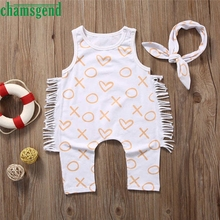 2017 cute Best seller Drop ship Newborn Toddler Baby Girl Boy Print Romper Jumpsuit Clothes Outfit Sunsuit Set S30 baby clothes