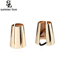 Fashion Poni Tail Band Metal Mirrored women Celeb style Holder Hair Cuff Wrap Ring Tie M018