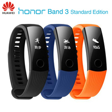 New Original Huawei Honor Band 3 Smart Wristband Swimmable 5ATM OLED Screen Touchpad Continual Heart Rate Monitor Push Message(China)