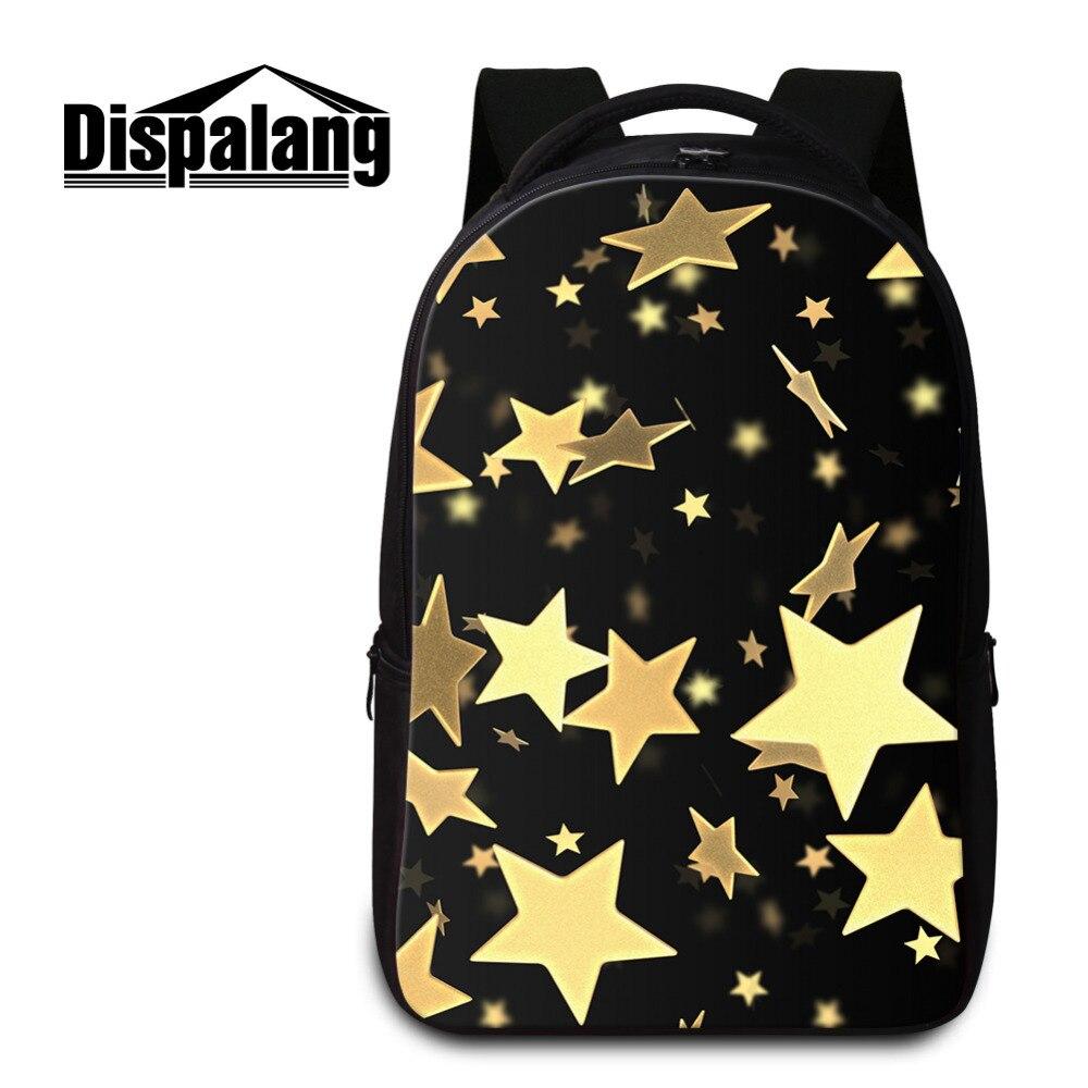 Dispalang Five-pointed Stars Backpacks Women Men Mochila Feminina Large Kids School Bags for Teens Casual Laptop Bagpack<br>