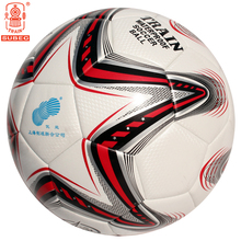 Train Football Soccer Ball Size 5 High Quality PU Indoor Outdoor Sports Training For Children Kids Adult White-Red 5060