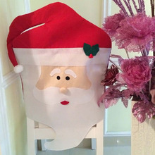 1Pcs Creative Mrs/Mr  Santa Cute Chair Back Set&Covers Dinner Decor Christmas Room Decoration High Quality Free Shipping 2016