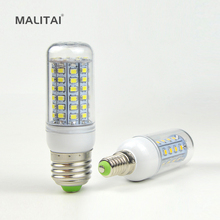 1X 2016 Full New LED lamp E27 E14 220V 30/36/48/56/69 LEDs Corn Bulb Chandelier Candle Spot light Replace CFL 7W 12W 15W 20W 25W(China)
