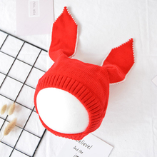PluckyStar Rabbit Ear Baby Hat Winter Baby Caps Warm Bebes Hats For Girls Knit bonnet enfant Newborn Photography Props C16(China)