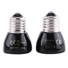 Black Infrared Ceramic Heat Emitter Bulb Pet Brooder Heater Lamp For Reptile 110V/220V(China)