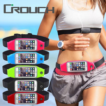 Crouch Gym Waist Bag Waterproof Sport Accessories Universal Phone Case Pouch For iPhone 6 Plus Samsung Galaxy J5 S7 S6 S5 A3