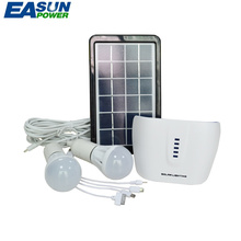 EASUNPOWER Solar Generator Portable Power Outdoor Mini DC 3W Solar Panel 3.7V 4.4AH Lithium Battery Charging LED Lighting System(China)