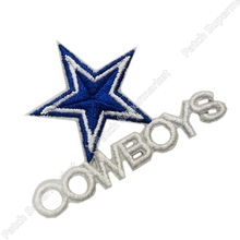 Cool Cowboys Cow boy Star Logo Embroidered IRON ON/ SEW ON Cool Football Vest Patch Military Badge Wholesale Free shipping