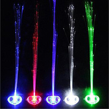 Wholesale led light braid Christmas party novelty decoration hair extension by optical fiber Halloween Concert Birthday Toy