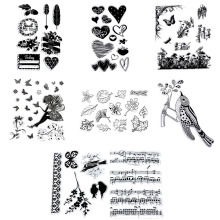 1x DIY Transparent Silicone Clear Rubber Stamp Sheet Cling Scrapbooking New
