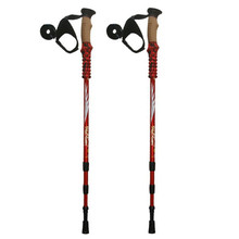 Anti Shock Nordic Walking Sticks Telescopic Trekking,Hiking Poles Climbing Ultralight Walking Canes With EVA Cork Handle 1 Pair(China)