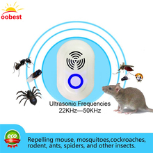 OOBEST Multi-Purpose Ultrasonic Pest Repeller Mosquito Killer Electronic Reject Rat Mouse Repellent Anti Rodent Bug Reject(China)