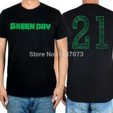 Free shipping  Green Day 21 Guns album cover men's punk rock black T-Shirt