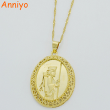Anniyo Iran Persian Pendant Necklaces for Women/Girls,Iranians Ahura Mazda Necklaces Gold Color Arab Jewelry #005412