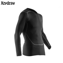 Mens Thermal Underwear Clothing 2016 Warm Fast-Dry Technology Surface Elastic Force Long Johns Compression Riding john For Man(China)