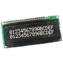 LCD1602A 16x2 White Screen Character Dot Matrix 1602 Blacklight LCD Display Module Black Background Parallel Port(China)
