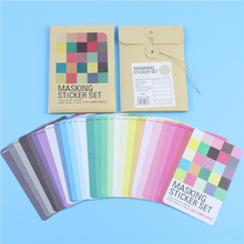 27PCS Pure Color Solid Washi Masking Sticker Paper Tape Scrapbooking Diary Planner Card Making Deco Label Tag Diy Craft Memo Pad
