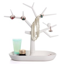 Plastic Bird Tree Shaped Jewelry Display holder Rack Bracelet Necklace Bathroom Stand Organizer Etagere Decorative Shelves