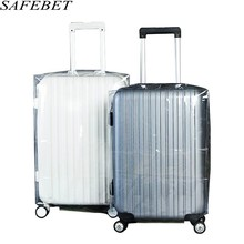 SAFEBET Brand PVC Matte Transparent Waterproof Suitcase Protective Cover Travel Luggage Trolley Case Thicker Wear Dust Covers