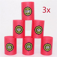 Abbyfrank 6 Pcs/Set Bullet Targets Shot Soft Bullet Gun Accessories Match Competition Game Family Educational Children Toys(China)