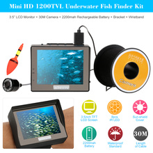 "KKmoon Mini HD Underwater Fish Finder Kit With 3.5"" LCD Monitor 30M 1200TVL Waterproof Infrared Night View Plug and Play Camera"