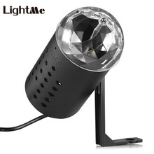 Lightme Projector Sound Activated 85 - 260V 3W 100LM RGB LED Stage Effect Light Crystal Magic Ball DI Party Disco Dj Projector