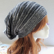 Womens Fall Fashion Hats Twist Pattern Beanies Winter Gorros Femal Winter Warm Hat Slouchy Chic Crochet Knitted Cap Skull