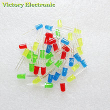 40PCS/Lot 5MM LED Set Mixed Color Red Green Yellow Blue LED Diode Kit Wholesale