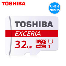 Original TOSHIBA Extreme UHS-1 U3 new version 90MB/s micro sd memory card 16GB/32GB/64GB TF best choice for 4K video for camera