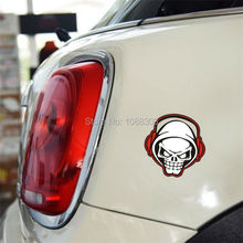 Headphone Death Skull Skeleton Knight Car Sticker Vinyl for Car Whole Body Tail Window(China)