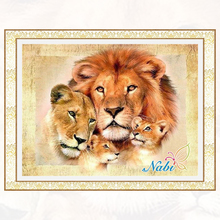 lion family Diamond painting cross stitch full Diamond embroidery Europe Home decoration Square drill animal series AS137(China)