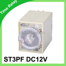Power off delay timer 12volt 8pins time relay 0~60 second ST3PF