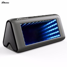Zinsoko BS-1025 Bluetooth Speaker Portable Wireless loudspeaker 3D Mirro 16W Super Bass LED Light Handfree With Mic for Phone(China)