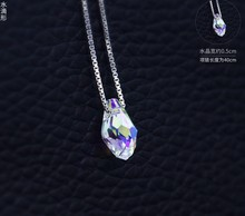 Best Quality 100% 925 sterling silver Original Crystals From Swarovski Pendant Necklaces Women Handmade Maxi Collares(China)